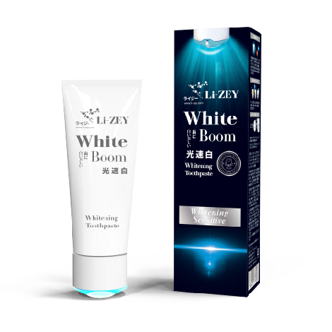 White Boom LED光速白歯磨キ- Whitening Sensitive
